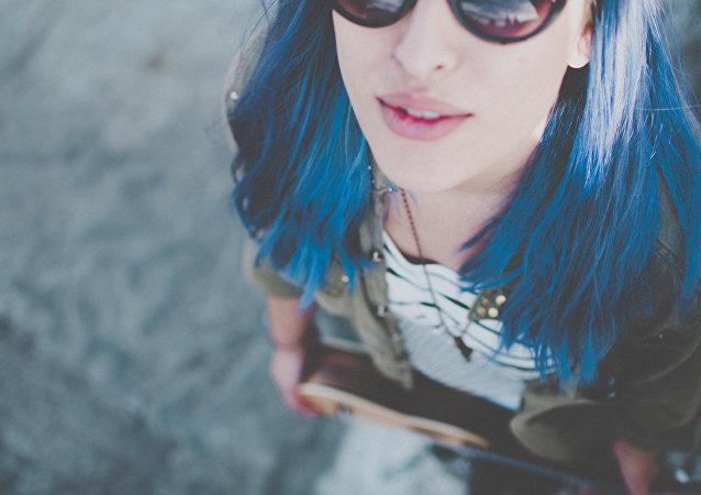 Una chica joven en Montevideo