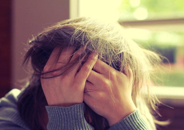 Una persona estresada