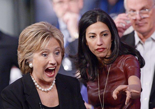 Huma Abedin y Hillary Clinton
