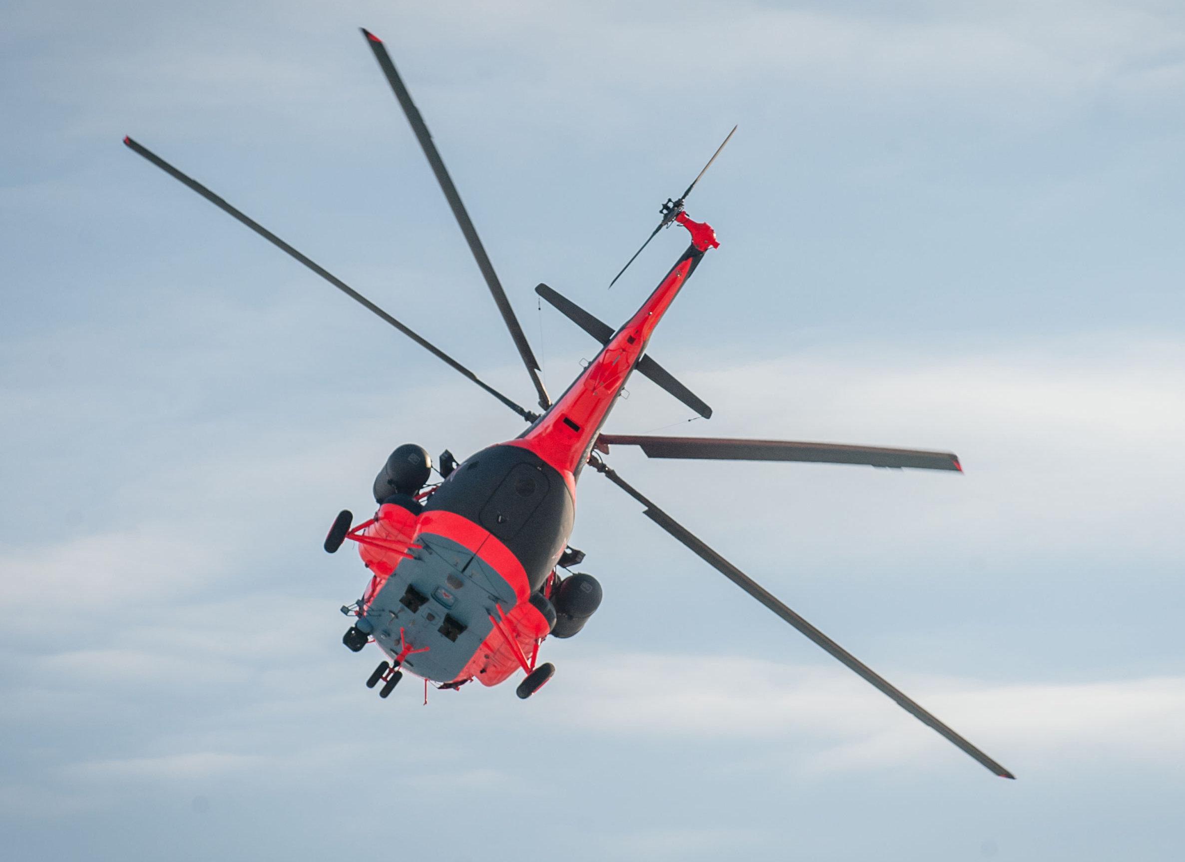 Las pruebas del helicóptero ártico Mi-8AMTSh-BA.