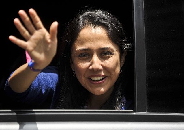 Nadine Heredia, esposa del expresidente peruano Ollanta Humala