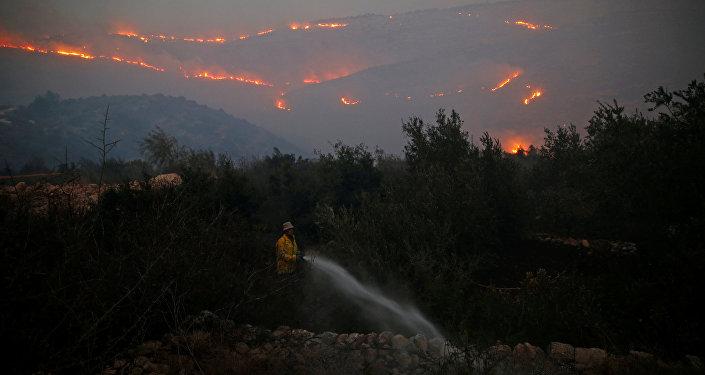 Los incendios en Israel