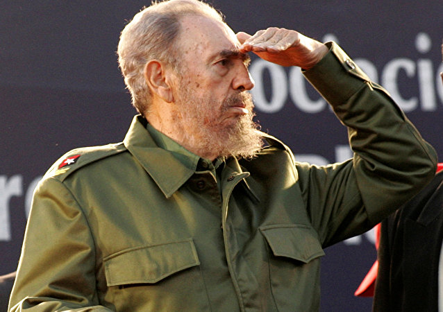 Cuba's President Fidel Castro looks at the crowd during a mass rally in Cordoba, Argentina July 21, 2006. REUTERS/Andres Stapff/File Photo