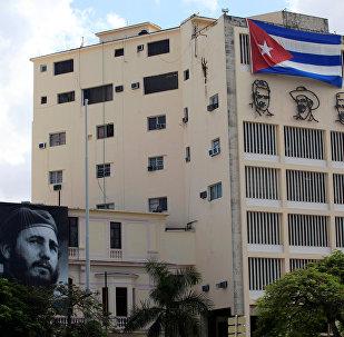 Un retrato de Fidel Castro en Cuba
