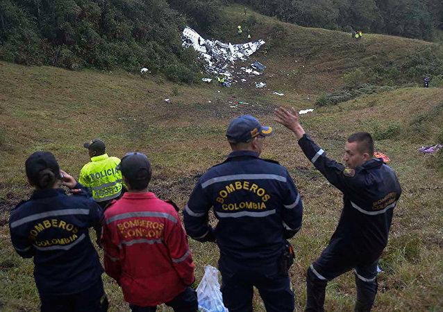 El avión siniestrado en Medellín