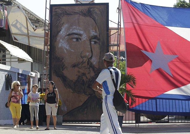 Retrato de Fidel Castro, el expresidente de Cuba