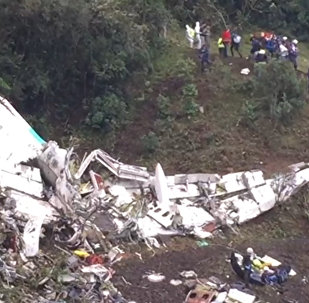Así quedó el avión siniestrado en Colombia