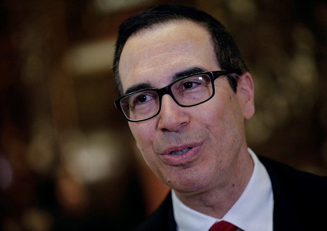 Steven Mnuchin, U.S. President-elect Donald Trump's reported choice for U.S. Treasury Secretary, speaks to members of the news media upon his arrival at Trump Tower in New York, U.S.
