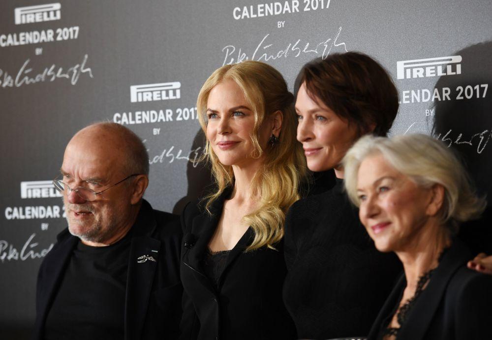 Peter Lindbergh, Uma Thurman, Nicole Kidman y Helen Mirren