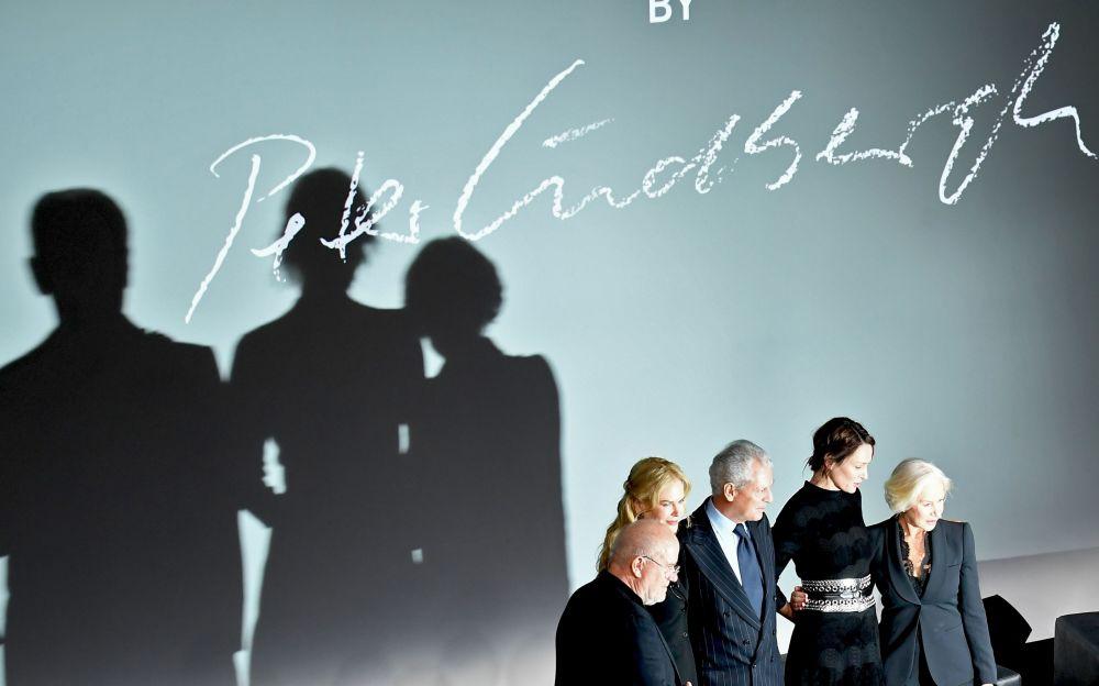 Peter Lindbergh, Nicole Kidman, Marco Tronchetti Provera, Uma Thurman y Helen Mirren