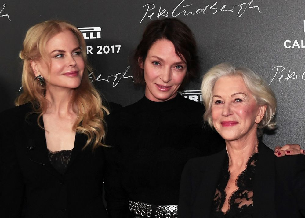 Nicole Kidman, Uma Thurman y Helen Mirren