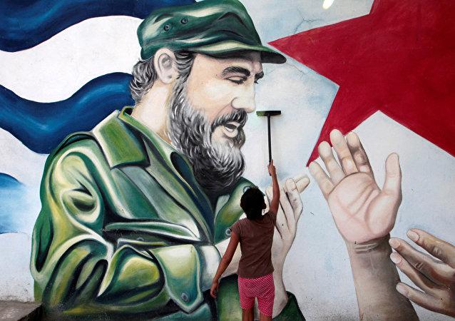 La imagen de Fidel Castro