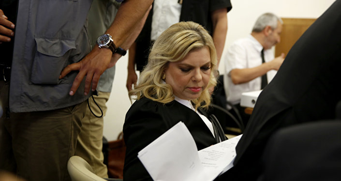 Sara Netanyahu, the wife of Israeli Prime Minister Benjamin Netanyahu