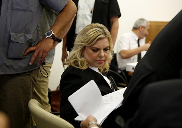 Sara Netanyahu, esposa del primera ministro de Israel, Benjamin Netanyahu (archivo)