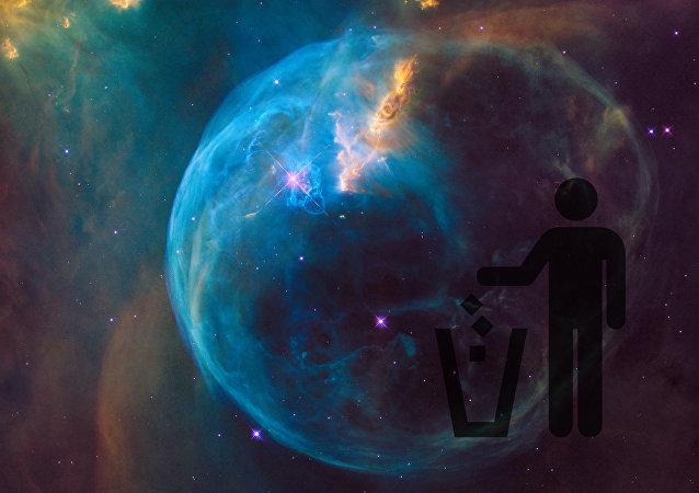 Basura espacial (montaje)