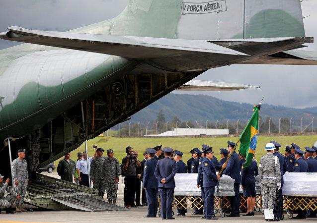 Repatriación de cuerpos del equipo de fútbol brasileño Chapecoense