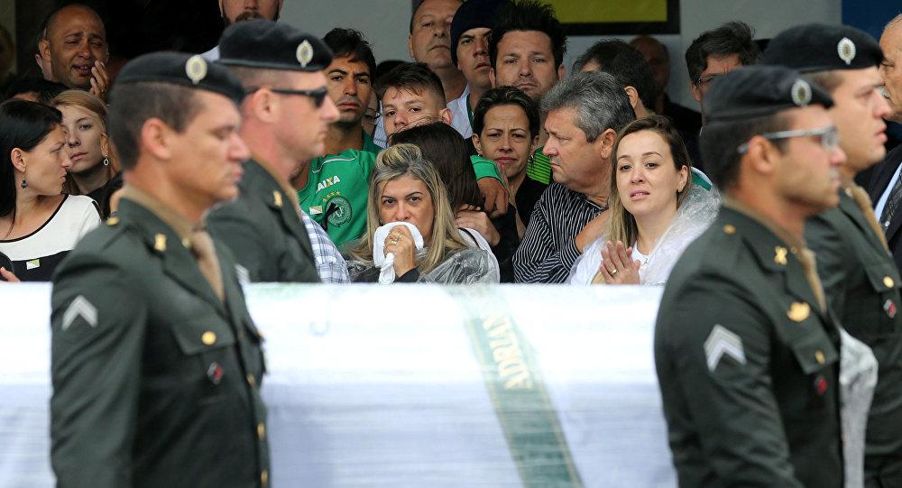 Los restos de las víctimas del equipo de fútbol Chapecoense