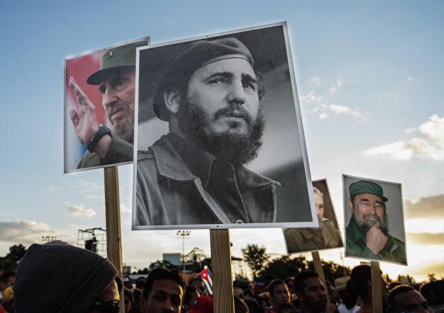 La ceremonia del homenaje de Fidel Castro