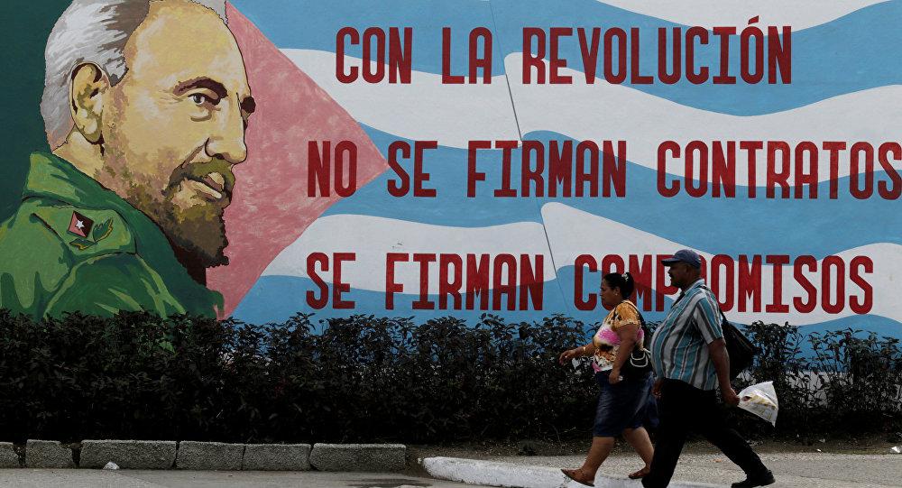 Una imagen de Fidel Castro, líder de la Revolución cubana (archivo)