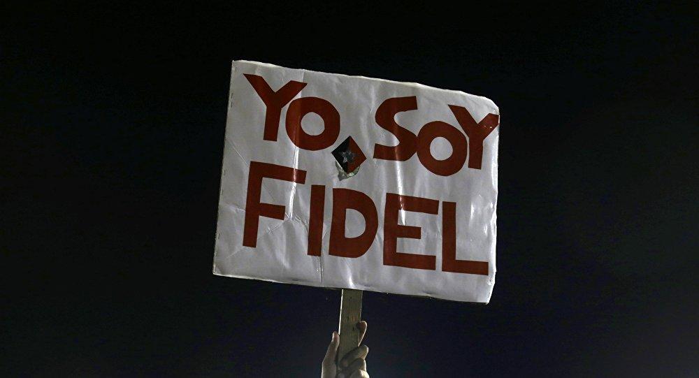 Acto en memoria de Fidel Castro