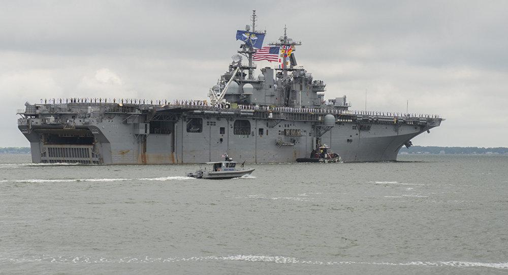 Buque de asalto anfibio estadounidense USS Wasp