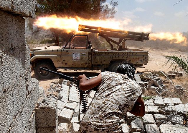 La batalla en Sirte (archivo)