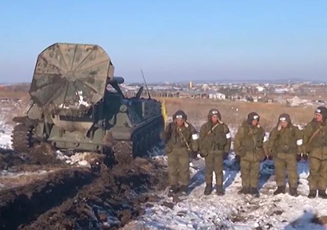 Mortero ruso 2S4 Tiulpán