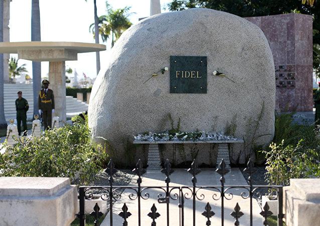 La tumba de Fidel Castro
