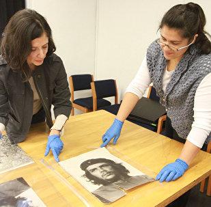 Durante la entrevista con Diana Velázquez Padilla,la coordinadora del Acervo del Centro de la Imagen