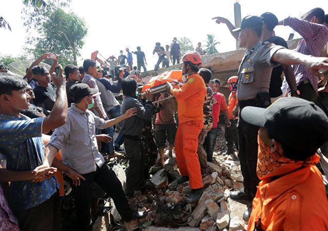 Las consecuencias del terremoto en Sumatra