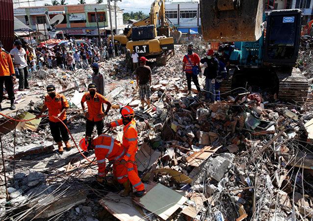 Las consecuencias del terremoto en Indonesia