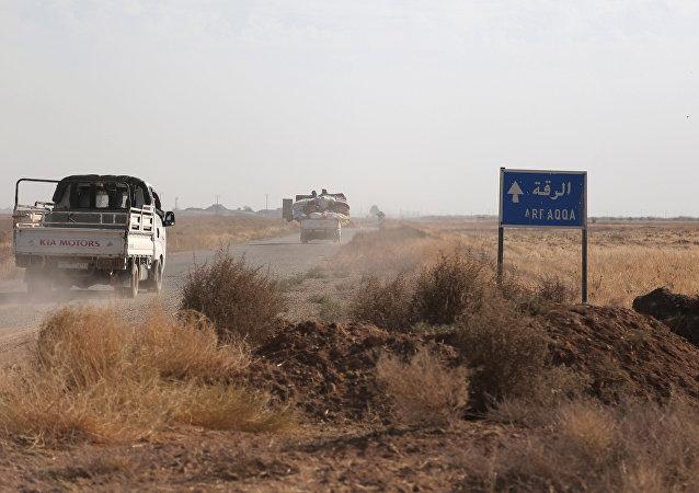 Las afueras de Al Raqa