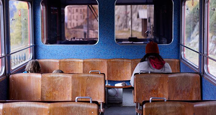 Mujer usando el transporte público (imagen referencial)