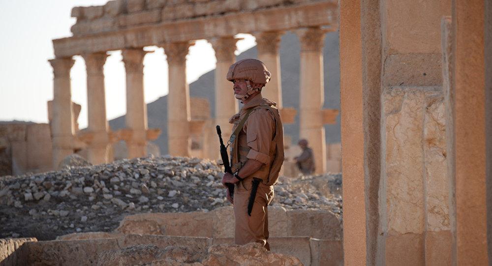 Soldado del Ejército Sirio en Palmira