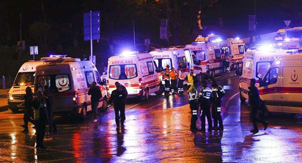 La policía y ambulancias en Estambul, Turquía (archivo)