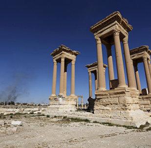 Tetrápilo de Palmira, archivo