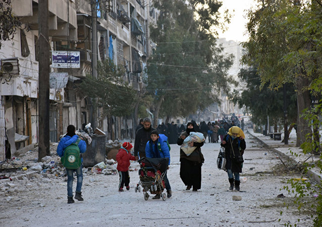 Ciudadanos de la ciudad siria de Alepo