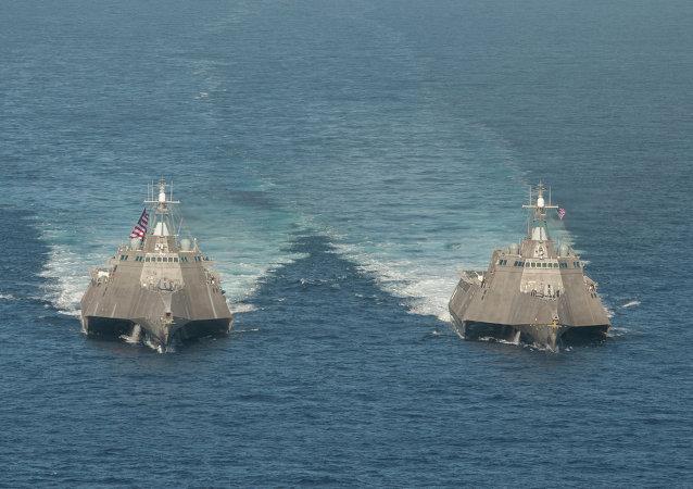Buques de combate litoral estadounidenses USS Independence y USS Coronado (archivo)
