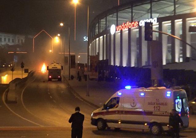 Fuertes imágenes: doble atentado en Estambul