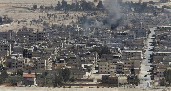 Consecuencias de los combates en la parte moderna de Palmira (archivo)
