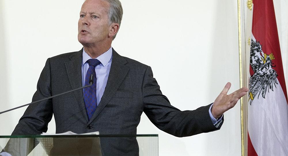 Reinhold Mitterlehner, vicecanciller federal y ministro de Economía austriaco