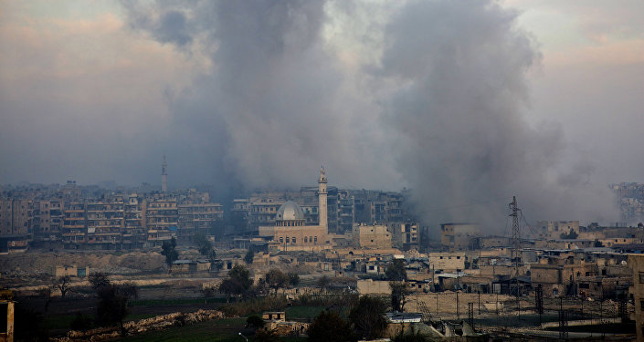 El distrito Bustan al-Qasr en Alepo