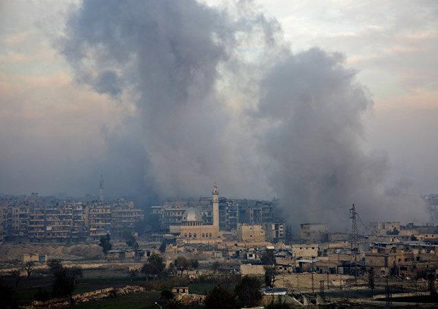 Explosión en Alepo (archivo)