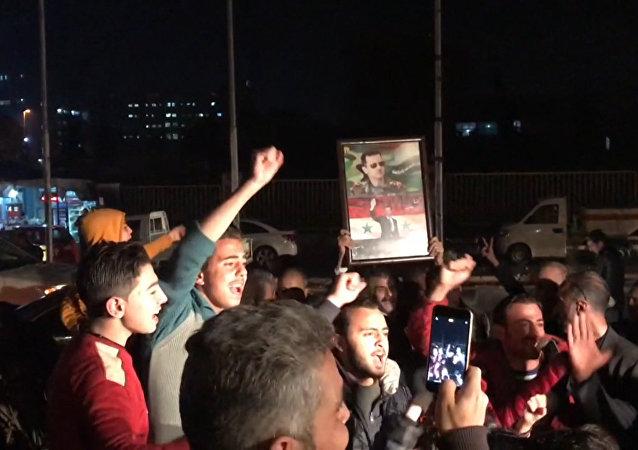 Victoria sobre el terrorismo: la población se regocija por avances del Ejército de Siria