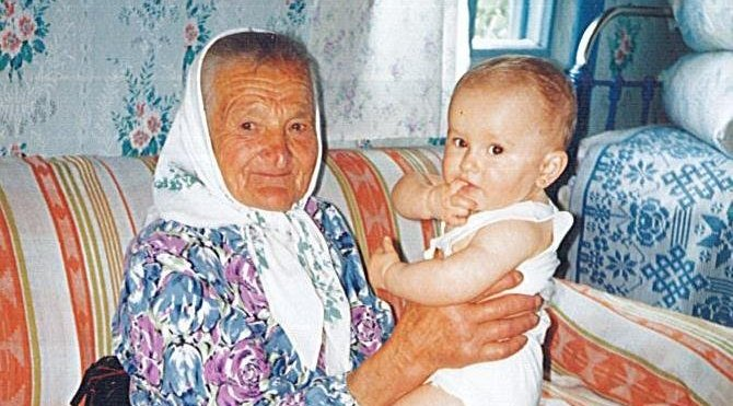 Tatiana, la prima (foto de 1995)