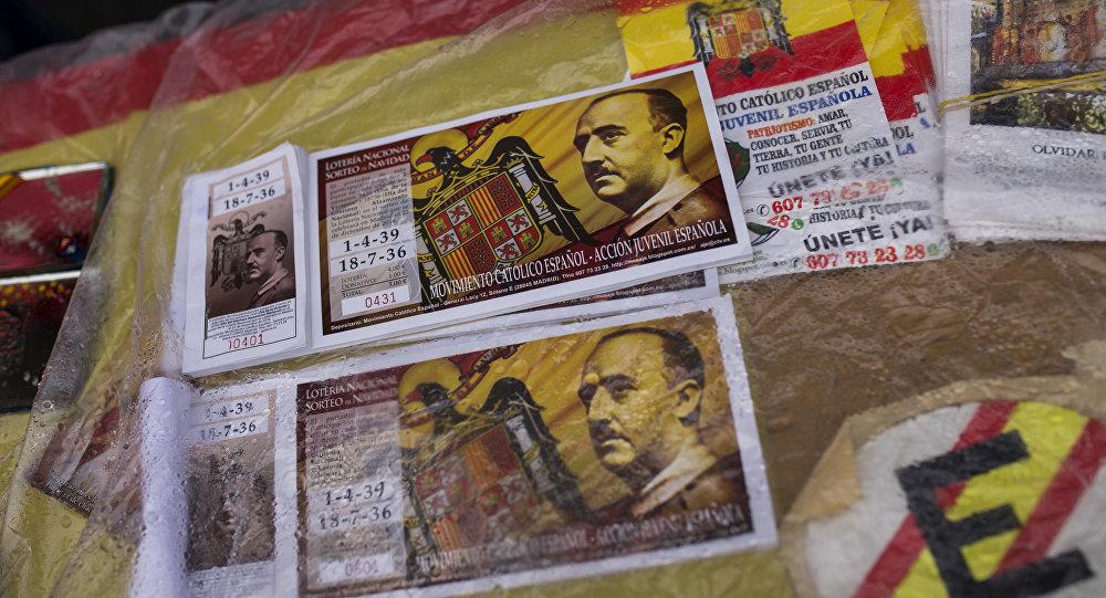 Los billetes de lotería con la imagen de Francisco Franco
