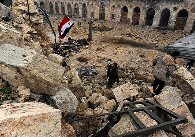 Bandera de Siria (imagen referencial)