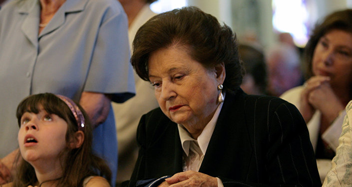 Lucía Hiriart, viuda del dictador chileno Augusto Pinochet, en 2008