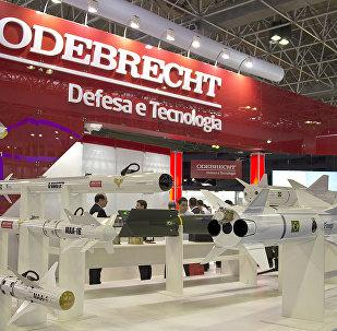Stand de Odebrecht en una exposición