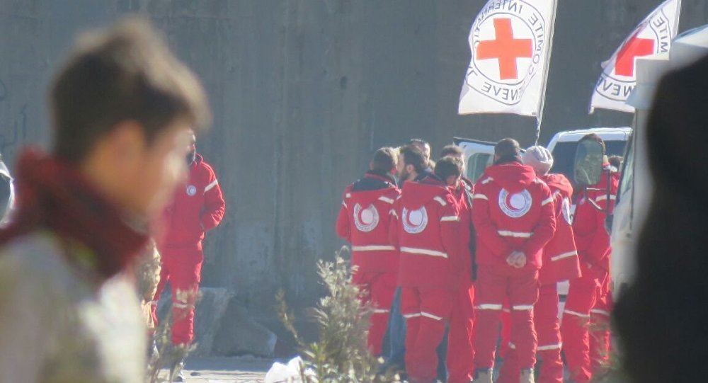 Los representantes de la Cruz Roja en Alepo